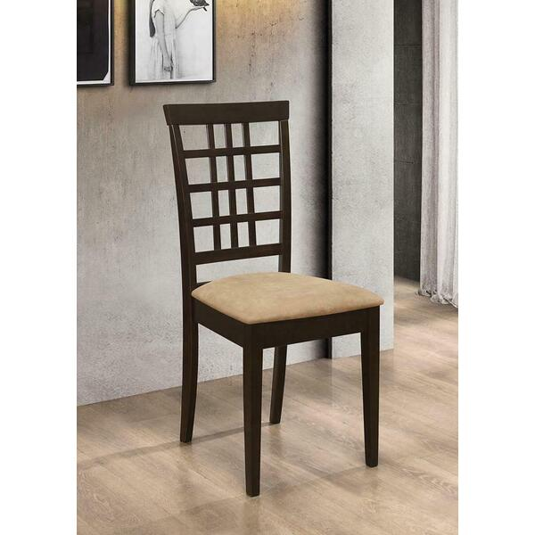 See Details - Kelso Casual Peat and Cappuccino Side Chair