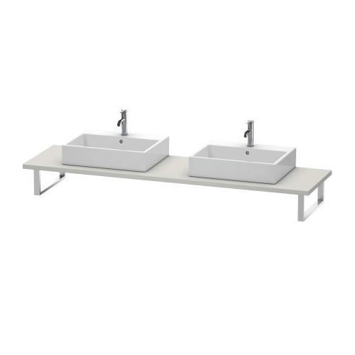 """Duravit - Console For Above-counter Basin And Vanity Basin, Width Max. 78 3/4""""concrete Gray Matte (decor)"""