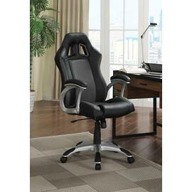 See Details - Contemporary Black and Grey Office Chair