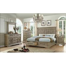 ACME Artesia Queen Bed w/Storage - 27100Q - Salvaged Natural