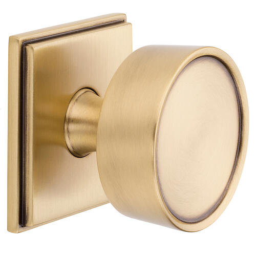 Satin Brass and Brown K009 Hollywood Hills Knob