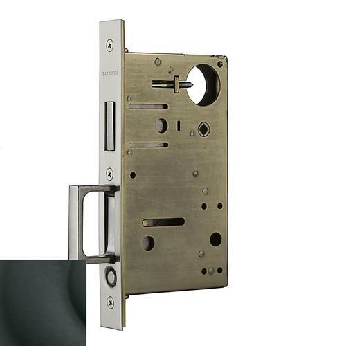 Satin Black 8602 Pocket Door Lock with Pull
