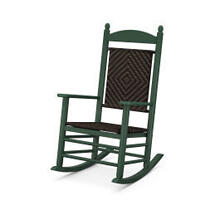View Product - Jefferson Woven Rocking Chair in Green Frame / Cahaba