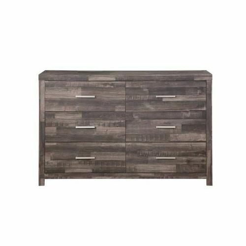 ACME Juniper Dresser - 22165 - Transitional, Rustic - Wood (Solid Pine), Veneer (Melamine/Paper), MDF - Dark Cherry