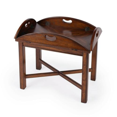 Butler Specialty Company - Lying flat or with the four sides turned up, this Butler Table is not only imminently versatile and functional, but also a beautiful addition to an already well-furnished room. Crafted from hardwood solids, wood products and oak veneers, it boasts a gleaming Vintage Oak finish.
