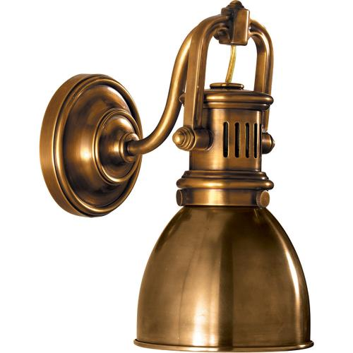 E. F. Chapman Yoke 1 Light 5 inch Hand-Rubbed Antique Brass Suspended Wall Sconce Wall Light