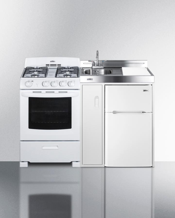 """Summit54"""" Wide All-In-One Kitchenette With Gas Range"""