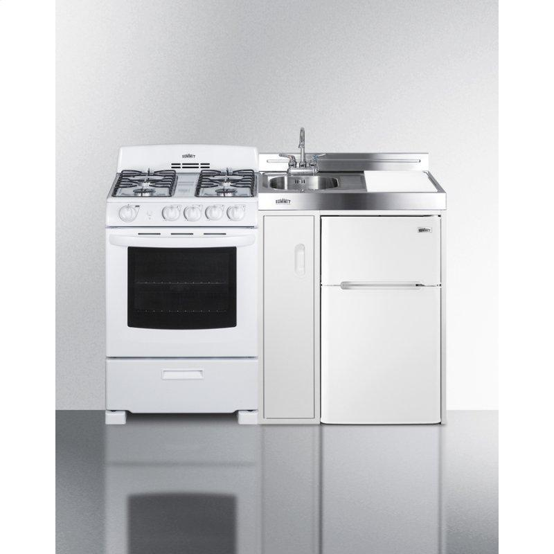 """54"""" Wide All-in-one Kitchenette With Gas Range"""