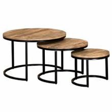 See Details - Darsh 3Pc Coffee Table set in Washed Grey