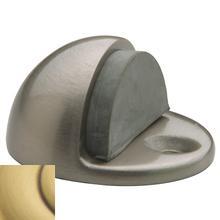 Satin Brass and Brown Half Dome Door Bumper