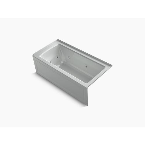 "Ice Grey 60"" X 30"" Integral Apron Whirlpool + Heated Bubblemassage Air Bath With Right-hand Drain"