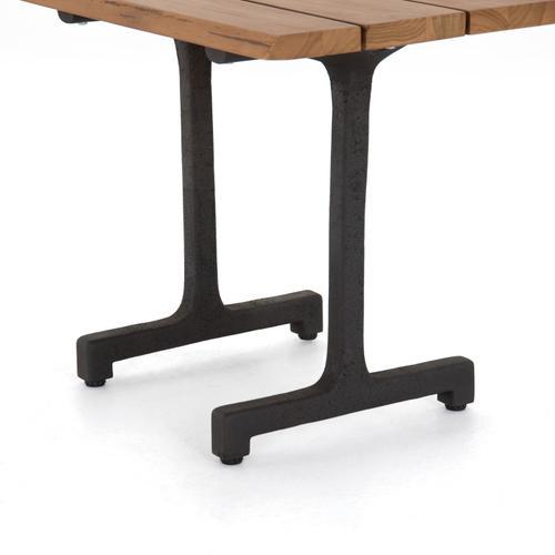 Oran Outdoor End Table-natural Teak