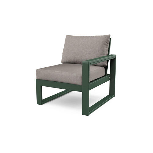 Green & Weathered Tweed EDGE Modular Right Arm Chair