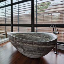 See Details - Papillon Bathtub Silver Travertine