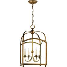 E. F. Chapman Arch Top 4 Light 18 inch Antique-Burnished Brass Foyer Pendant Ceiling Light