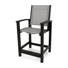 Black & Metallic Coastal Counter Chair