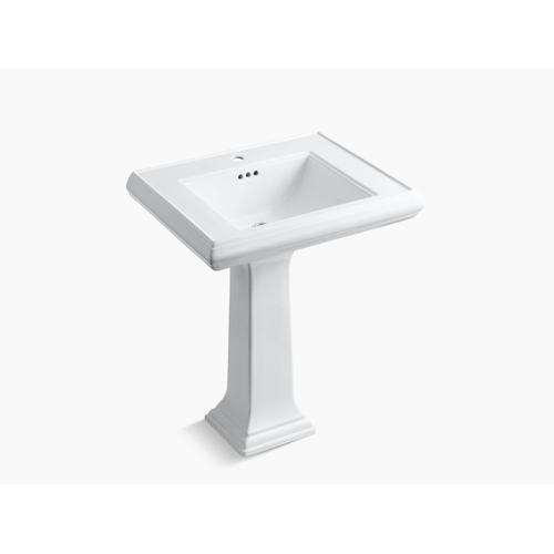 "Sandbar Classic 27"" Pedestal Bathroom Sink With Single Faucet Hole"