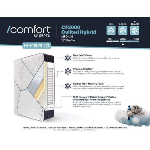 iComfort - CF3000 Quilted Hybrid - Medium - Twin XL
