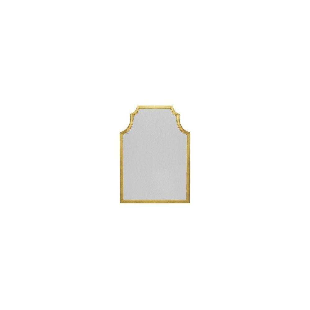 Mirror, MIRROR...MAKE All Our Dreams Come True! Gaze Upon All You Have Created While Taking In the Graceful Lenwood Pagoda-style Frame In Hand Applied Gold Leaf. the Perfect Complement To Your Entryway or Dressing Room.