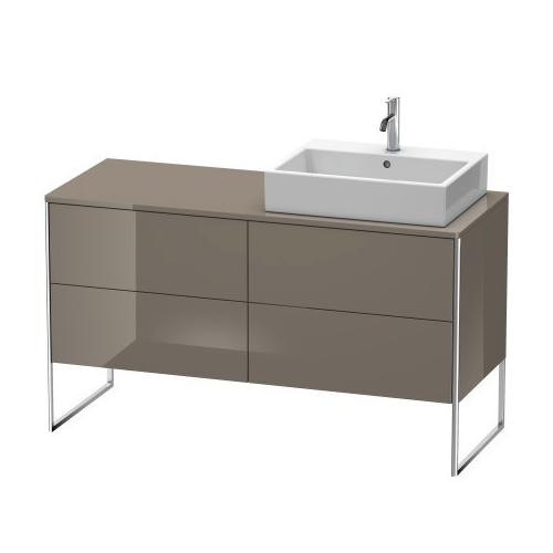 Product Image - Vanity Unit For Console Floorstanding, Flannel Gray High Gloss (lacquer)