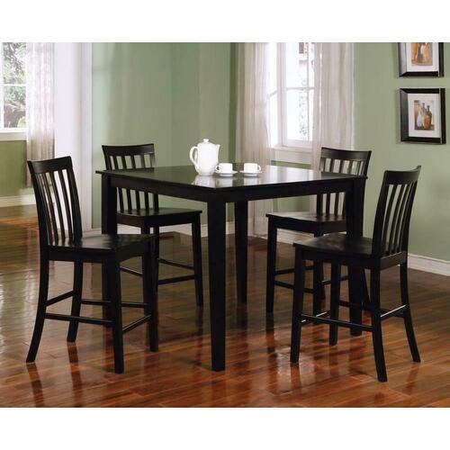 See Details - Transitional Black Five-piece Dining Set