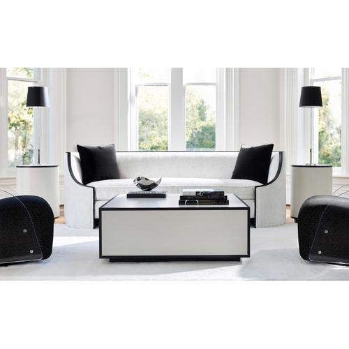 Silhouette Accent Table in Eggshell (307), Onyx (307)