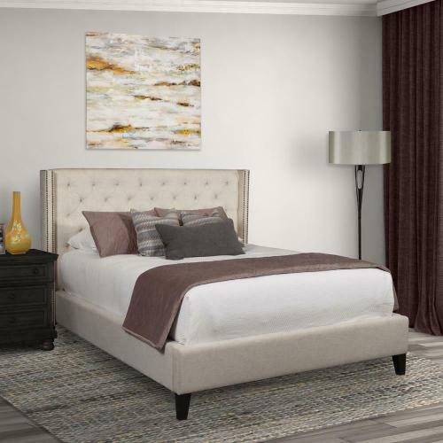 KAYLA - LILY Upholstered Bed Collection (Natural)