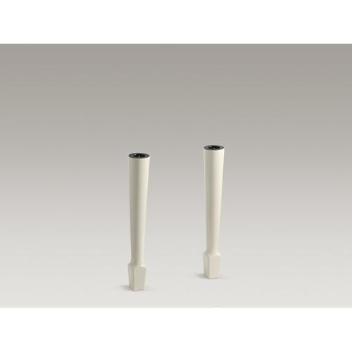 """Almond 4-1/8""""x 26-5/8"""" High Fireclay Legs (pair)"""