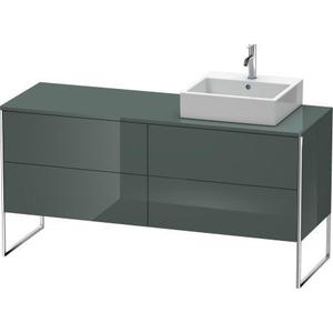 Vanity Unit For Console Floorstanding, Dolomiti Gray High Gloss (lacquer)