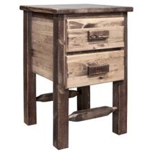 See Details - Homestead Collection Nightstand with 2 Drawers, Stain and Lacquer Finish