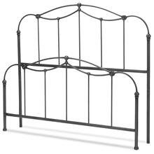 See Details - Braylen Metal Headboard and Footboard Bed Panels with Spindles and Detailed Castings, Weathered Nickel Finish, Queen