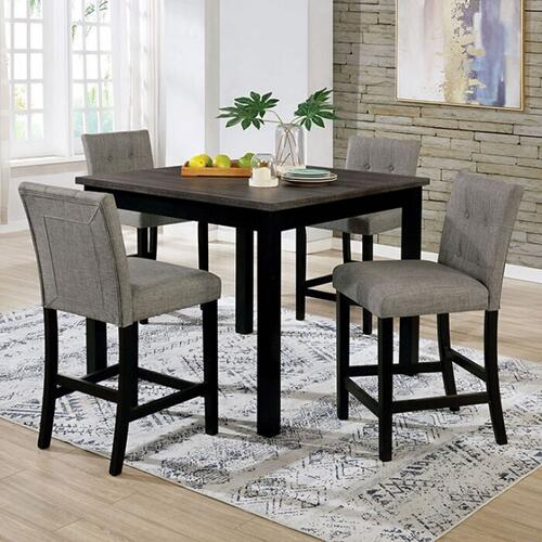 Furniture of America - Delemont 5 Pc. Counter Ht. Set