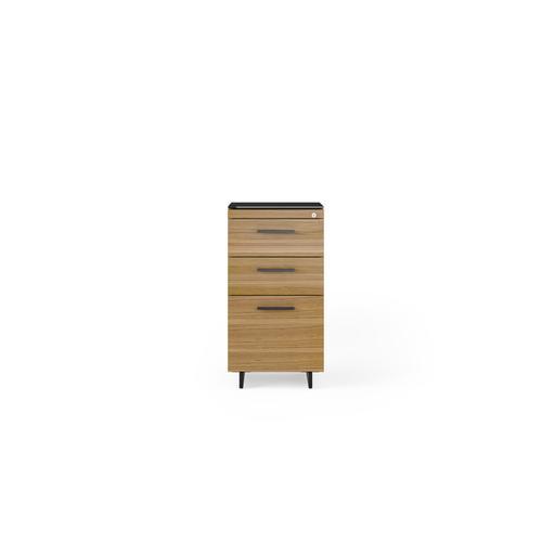 BDI Furniture - Sequel 20 6114 3 Drawer File Cabinet in Walnut Black