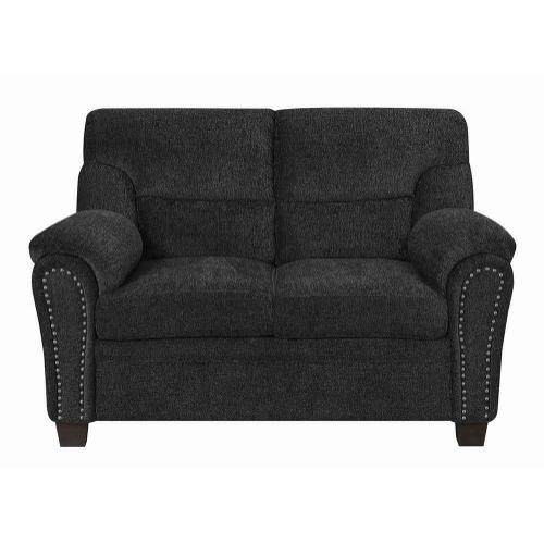 Coaster - Clementine Casual Grey Loveseat