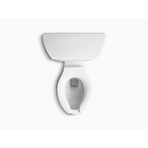 White Two-piece Elongated Chair Height Toilet With Tank Cover Locks