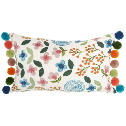 """Life Styles Hw684 Multicolor 12"""" X 20"""" Throw Pillow"""