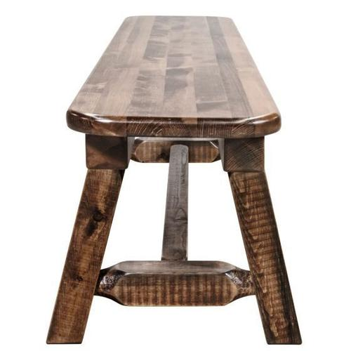 Homestead Collection Plank Style Bench, Stain and Lacquer Finish