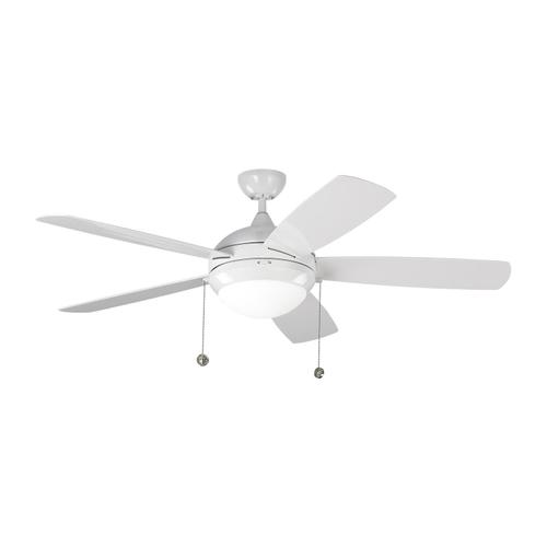 """52"""" Discus Outdoor Fan - White"""
