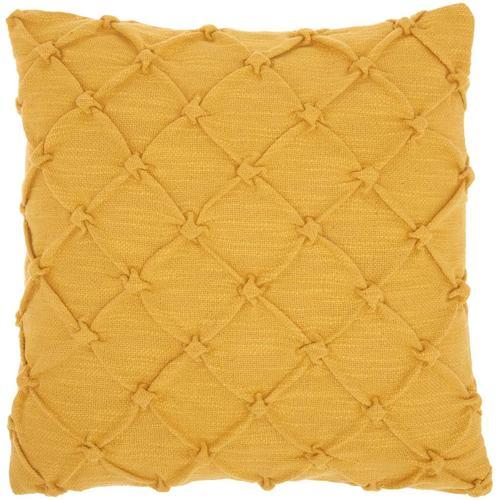 """Kathy Ireland Pillow Aa242 Yellow 18"""" X 18"""" Throw Pillow"""