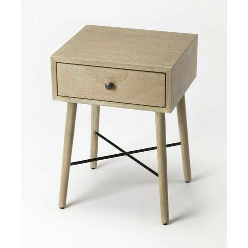 Butler Specialty Company - With Mid-Century Modern roots, this classic rectangular End Table is both good-looking and functional. Crafted from bayur wood solids and okoume veneer, it features a fresh contemporary gray finish with a spacious drawer, and is equally usable for use as a nightstand.