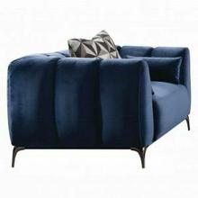 ACME Hellebore Chair w/3 Pillows - 50437 - Blue Velvet