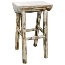 Montana Collection Half Log Barstool