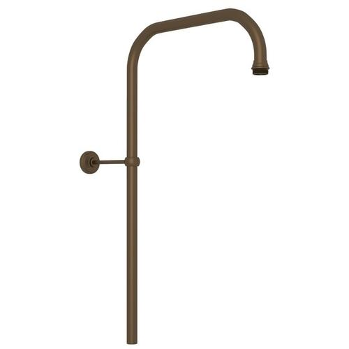 "English Bronze Perrin & Rowe 31"" X 15"" Rigid Riser Shower Outlet"