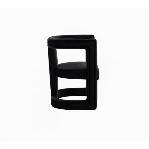 Gallery - Modrest Kendra - Modern Black Fabric Accent Chair