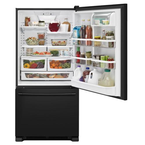 Maytag - 33-Inch Wide Bottom Mount Refrigerator - 22 Cu. Ft. Black
