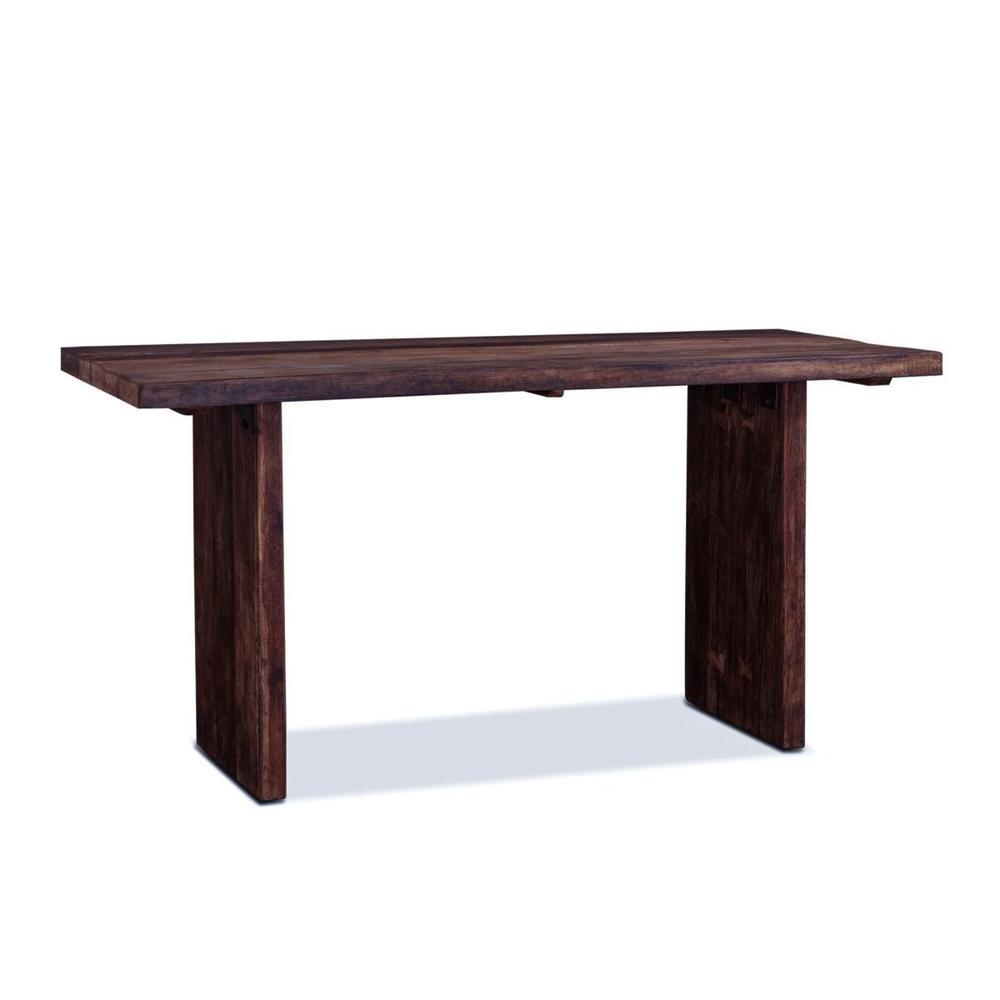 "See Details - Barnwood 72"" Gathering Table Java Brown"