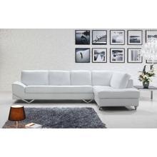 See Details - Divani Casa Vanity - Modern White Sectional