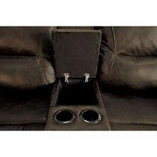ACME Romulus Loveseat w/Console (Motion) - 52816 - Espresso Leather-Aire Match