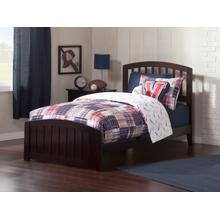 View Product - Richmond Twin XL Bed with Matching Foot Board in Espresso