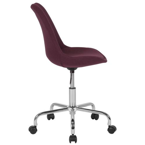 Alamont Furniture - Mid-Back Purple Fabric Task Chair with Pneumatic Lift and Chrome Base